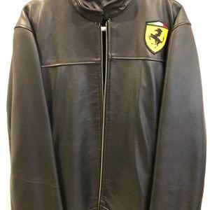 Leather Ferrari jacket